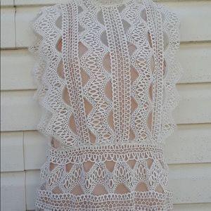 Lace Charlotte Russe shift mini party dress
